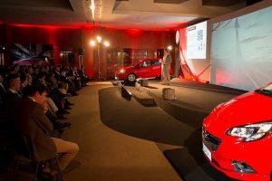 Escenario presentación Opel para agencia de Publicidad