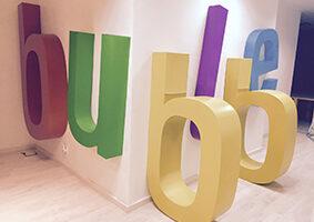 letras corporeas para soporte mesas de oficina